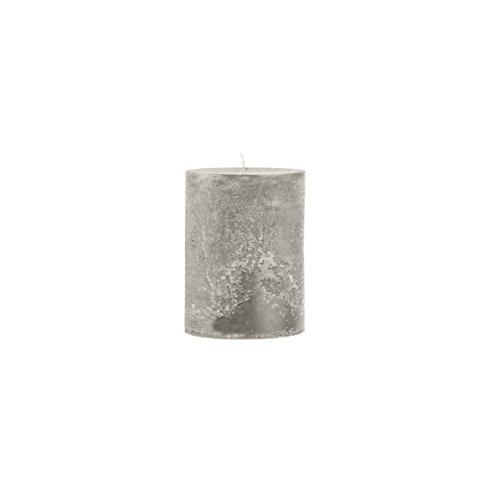 Rustico durchgefärbte, strukturierte Stumpenkerze 50/50 mm Grau | Brenndauer: ca. 15 Std | Original von Steinhart