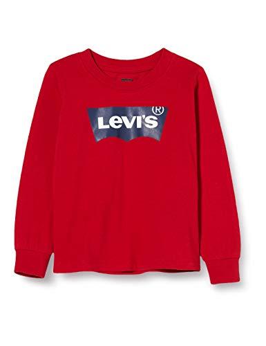 Levi's Kids Lvb L/S Batwing Tee Camiseta de manga larga Bebé-Niños Levis Red 12 meses