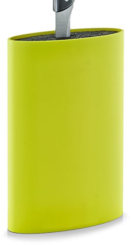 Zeller 24933 Messerblock m. Borsteneinsatz, oval, grün