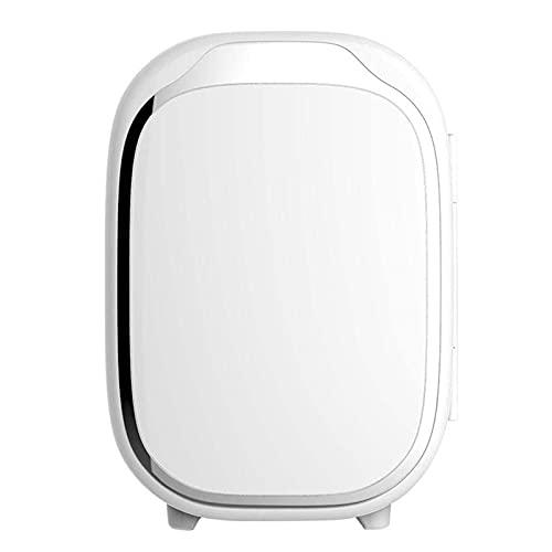 Mini refrigerador pequeño de 6 litros, refrigerador de automóvil, refrigerador de automóvil semiconductor, 12 V / 220 V 48 W, para oficina de camping en casa