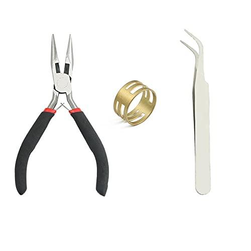 YSTSPYH Accesorios de Pulsera Juego de Accesorios de joyería de Bricolaje Conjunto 3/4 / 5/6/7/8 / 10mm Pendiente de Gancho para Suministros de joyería de Bricolaje (Farbe : Tools)