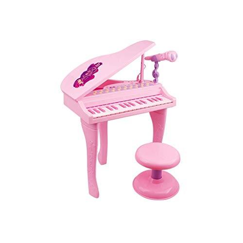 Digitale piano Children's Electronic Piano met microfoon Meisje Early Education Piano Verlichting Toy Zingen Gift Met U Disk Headset (Kleur: Roze) (Color : Pink)