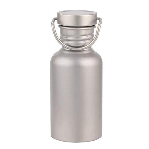 純チタンボトル 直飲み水筒 アウトドア登山 自転車スポーツウォーターボトル 超軽量・錆びない 広口水筒 430/600/650/750/800ML (430ml)