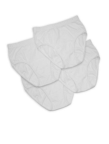 Unbekannt Punkt - Damen Inkontinenz-Slips, 4 Stück, Farbe:weiß, Größe:40/42