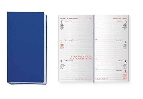 Agenda settimanale 8x15 in gomma AGENDEPOINT.IT 2020 BLU copertina soft touch