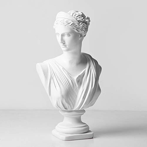Estatua de decoracin de arte moderno, David Venus, decoracin de sala de estar, hecha a mano, estatuilla retro, 17 x 12,5 x 30,5 cm