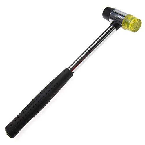 Mini martillo de mazo de 25 mm de agarre antideslizante doble cara de nailon y caucho mazo para madera, cuero, joyería y manualidades