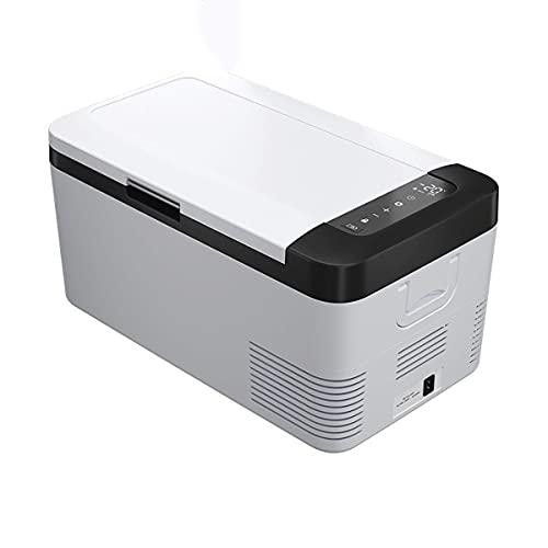 QSWL Refrigerador portátil 12/24 voltio congelador (18 litros), automóvil, Mini congelador refrigerador, Adecuado para Conducir, Viajar, Pescar, al Aire Libre (Color : A, Size : 24V 110V 220V)