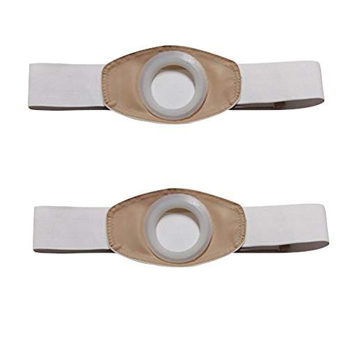 2 Stücke Stoma Hernia Gürtel Frühling Kolostomie Bauchband Silikon Unisex Stoma Unterstützung Bauchbinder, für Körper Stoma Auto,L