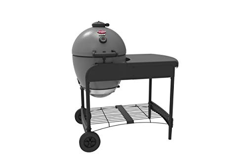 Char-Griller 6520 Akorn Kamado Kooker Charcoal Grill with Cart - Grey
