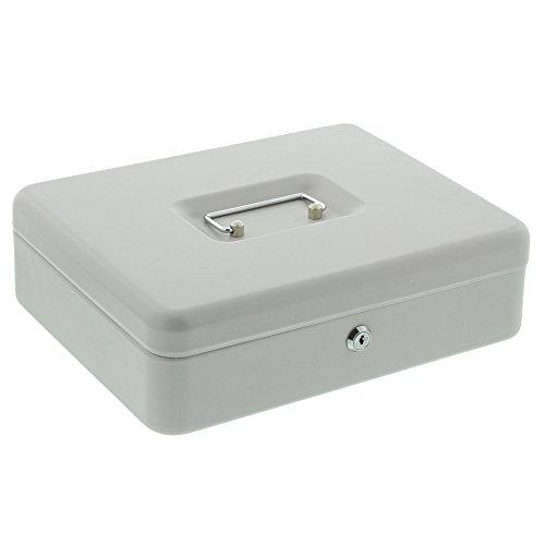 Burg-Wächter Geldkassette Money 5030, Stahlblech, Grau, Inkl. 2 Schlüssel und Hartgeldeinsatz