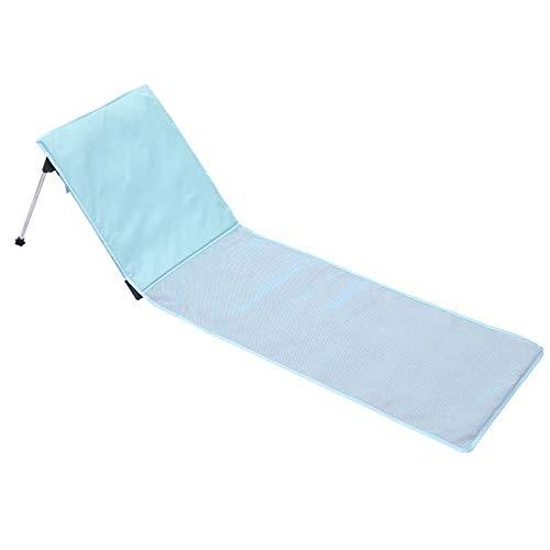 WWVAVA - Tumbona ligera para exteriores, para silla de playa, plegable, portátil, para camping, color azul