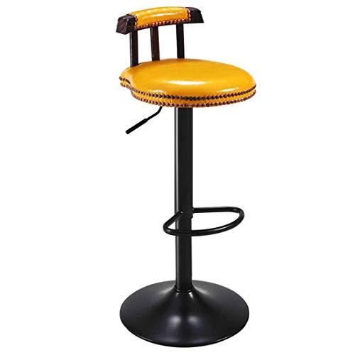 Barkruk ontbijt eetkamer stoelen 360 ° draaibare kruk in hoogte verstelbaar met rugleuning en voetensteun voor het ontbijt bar, bar, bar, keuken en huis barstools