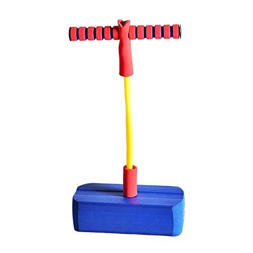 XIAOYAN Saltador Saltar Stick Safe Divert Fun Poam Poam Pogro, 3 Veces Estiramiento, Sonidos Squeaky Gracioso, Capacidad de 250 Libras, Salto Durable Squeak Pogo Stick Kids (2 Colores) (Color: Azul)