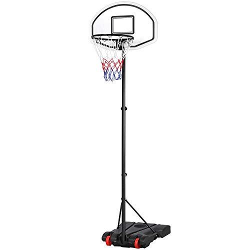 Yaheetech Basketballständer Basketballkorb mit Ständer Outdoor Tragbar Korbanlage Basketballanlage Höhenverstellbar von 159 bis 214 cm
