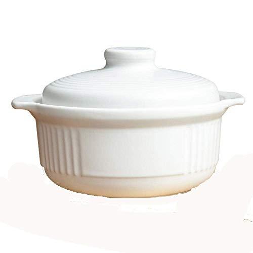 CYQ Ollas de Terracota para cocinar Ollas de Barro para cocinar Cazuela de conducción de Calor rápida, sartén Antiadherente, Duradera y fácil de Limpiar.-3L