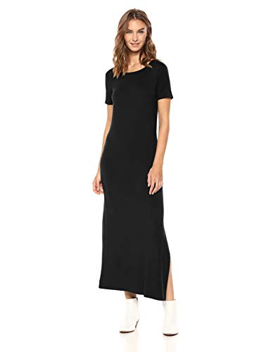 Daily Ritual Women's Jersey Standard-Fit Crewneck Short Sleeve Maxi Dress with Side Slit