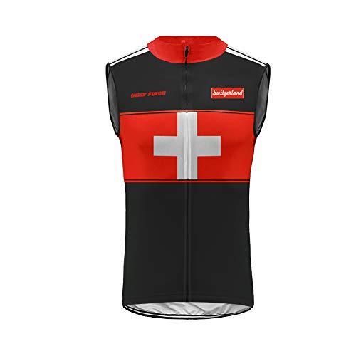 Uglyfrog Cycling Vest Sleeveless Jersey de Ciclo para Hombre Sin Mangas Profesional de Bicicletas de...