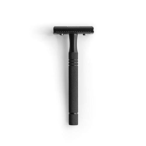 sober® | Premium Rasierhobel aus Solingen inkl. Rasierklingen | Nassrasierer in Schwarz matt für die klassische Rasur
