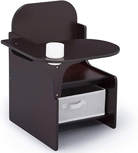 Delta Children MySize Chair Desk with Storage Bin, Dark Chocolate