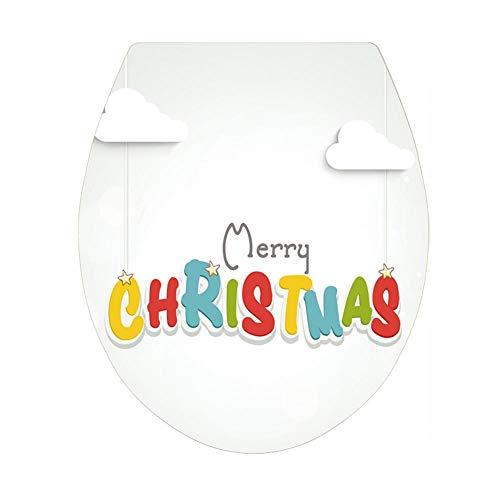 Hanren Adhesivo decorativo para el baño, hecho a mano, papel de Navidad, papel pintado para salón, dormitorio, fondo de pared, autoadhesivo, se puede quitar sin dejar residuos, pintura decorativa