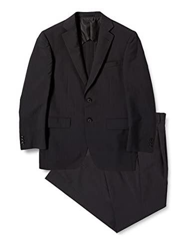 [アオキ] AOKI タック付き スーツ メンズビジネス/2つボタン/ストライプ【選べるカラーバリエーション】 メ...