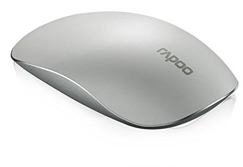 Rapoo T8 - Ratón (Ambidextro, Laser, RF Wireless, Blanco)