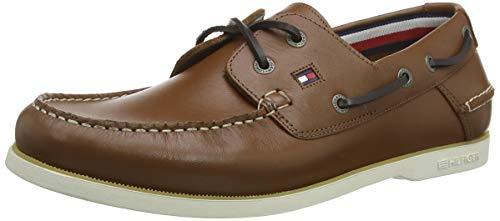 Tommy Hilfiger Herren Classic Leather Boatshoe Mokassin, Braun (Natural Cognac Gtu), 44 EU