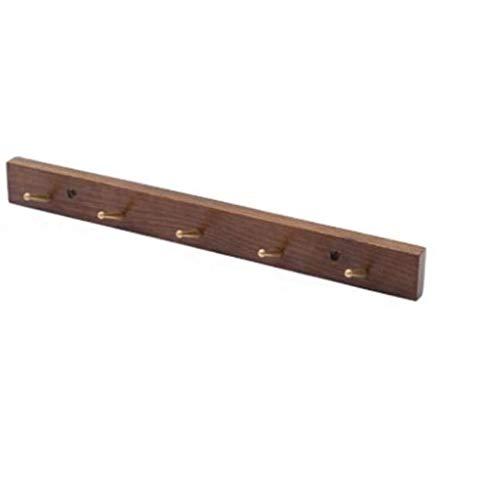 XYZMDJ Perchero Colgar de la Pared Gancho de la Pared Moderna de Madera sólida de la suspensión Creativa Dormitorio Simple Gancho de la Puerta (Size : 46.5cm)