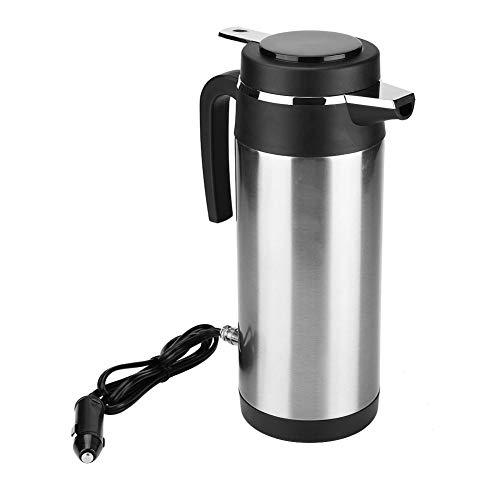1200ML 12V / 24V Acero inoxidable Hervidor de agua eléctrico Termos de viaje Botella de agua de calefacción Universal para variedades de automóviles(24V)
