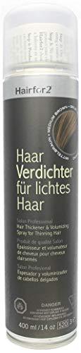 Hairfor2 Haarverdichtungsspray gegen lichtes Haar (400ml, Mittelbraun)