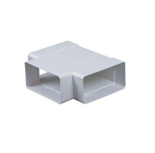 Adaptador de tubo de conector de canal rectangular en T, 3 vías, tamaño de 220 mm x 55 mm