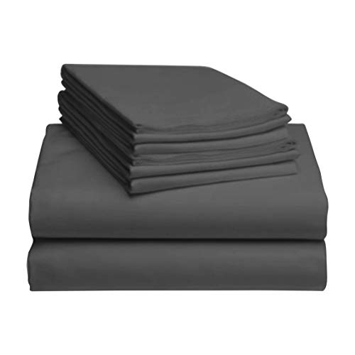 LuxClub 6 PC Sheet Set Bamboo Sheets Deep Pockets...
