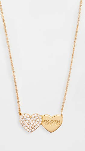 Kate Spade New York Women's Mom Knows Best Pave Heart Pendant Necklace