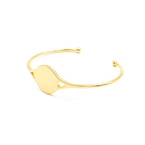 Vintageparts Armreif aus Messing 18K goldbeschichtet mit 18 mm Klebefläche Schmuck selber basteln Mädchen Damen Unisex
