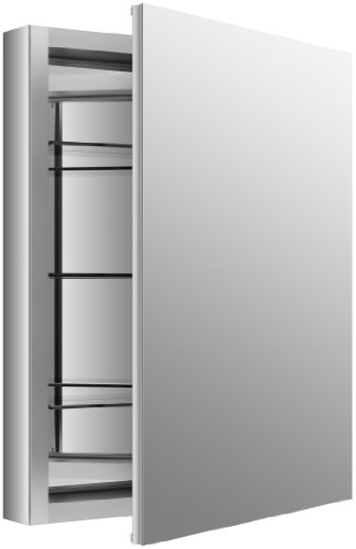 "Kohler Verdera 24"" W x 30"" H Aluminum Mirrored Medicine Cabinet (K-99006-NA)"