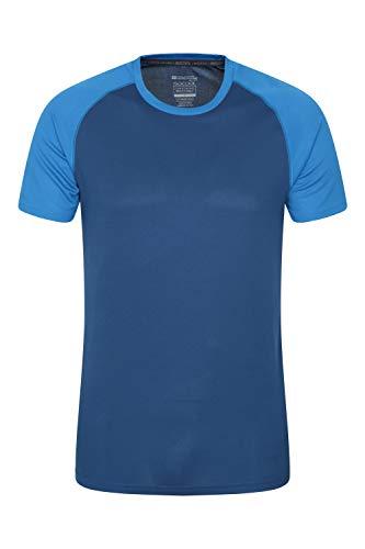 Mountain Warehouse Endurance Herren-T-Shirt - atmungsaktiv, UPF-30-Schutz, leichtes, bequemes und schnell trocknendes Oberteil - für Fitnessstudio, Reisen, Wandern Marineblau XXX-Large