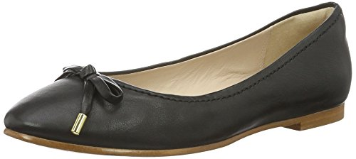 Clarks Damen Grace Lily Geschlossene Ballerinas, Schwarz (Black Leather), 37.5 EU