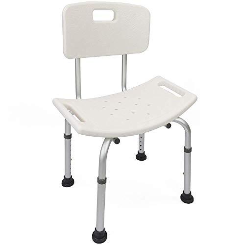 PrimeMatik - Sedia da doccia regolabile in altezza per bagno