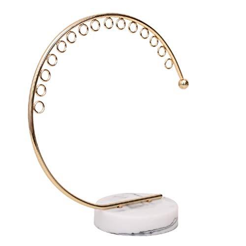 Cabilock Schmuck Hängen Baum Stehen Multifunktionale Halskette Ohrring Metallhalter Display Veranstalter Rack Veranstalter Eitelkeit Dekor Herzstück