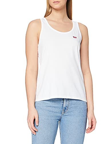 Levi's Essential Tank Camiseta Deportiva de Tirantes, White +, L para Mujer