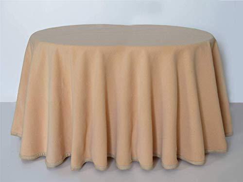 textil mora Falda para Mesa Camilla Ovalada 135 x 90 x 75 de Alto