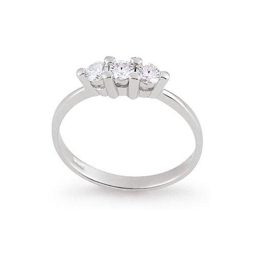 Anello Trilogy Donna Artlinea Oro Bianco e Diamanti – AD070-LB