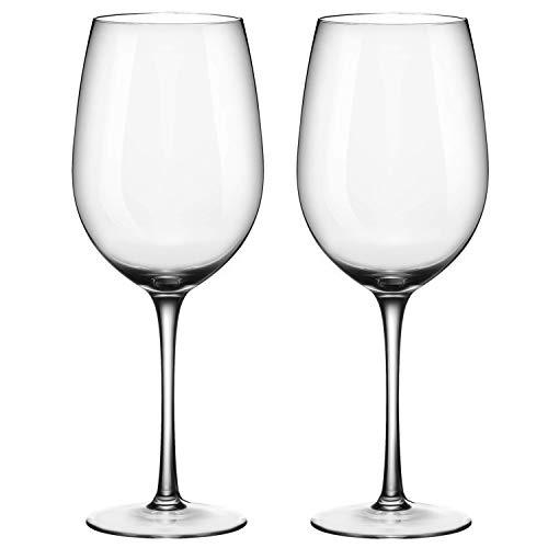 ADMY Weinglas, Rotwein Glas 2er Set, 530ml Rotweinglas Weißweinglas aus Kristallglas, Transparentes Sektglas Sektkelch, Universalglas Weinkelch Kelchglas als Geschenk für Weihnachten Geburtstag