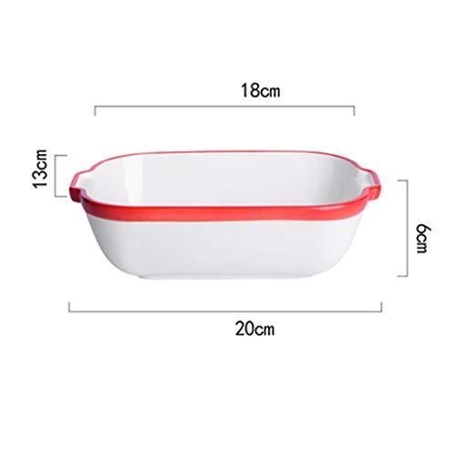 YuanYu Backblech, Kreative Backblech, Pure White Rice Bowl, Käse, Reis Schale, Keramik Haushaltsherd, Backofen, Mikrowelle Blech (Color : B)