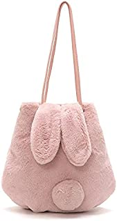hand bag for women latest | college bags for girls Mini Small Women Tote soft Fur bag Womens Kids Girls
