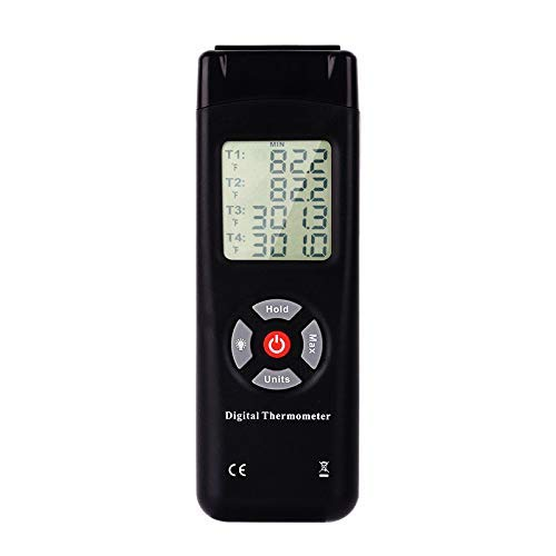GUOCAO Tl-Tk04 4 Canales Tipo K Termopar Contacto Pantalla Digital Termómetro Termopar Sensor Herramientas