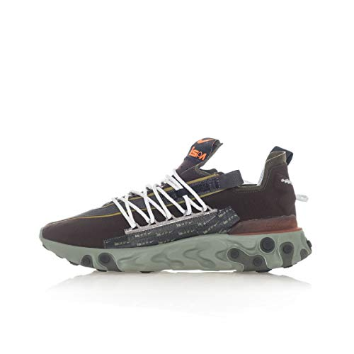 Nike ISPA React WR Running Shoes (7.5, Velvet Brown/Dark Stucco/Black/Terra Orange)