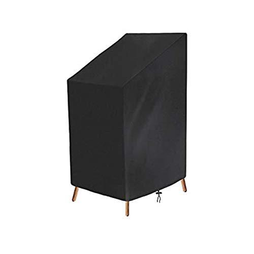 Osarke, coprisedia impilabile per sedie da Giardino, Copertura Impermeabile e reclinabile, in Tessuto Oxford 420D, Impermeabile, Traspirante, Anti-scolorimento, Anti-UV, 65 x 65 x 80/120 cm