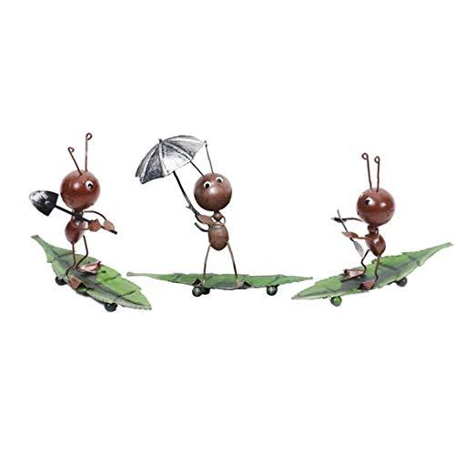 3 Piezas De Muebles Creativos, Hierro Forjado Hormigas De Artículos De Menaje, Hogar Decoración Del Hogar Pequeño Ornamento Casa Y Jardín